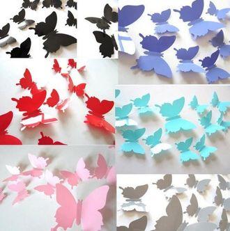 3D Декоративные бабочки на магните