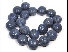 Бусина Коралл голубой Акори, Индонезия, шар уплощенный 20*15 мм (1 шт) №20933