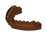 Boat, Hull Brick 16 x 10 x 3, Reddish Brown (64645 / 4539395 / 6085209 / 6310953)