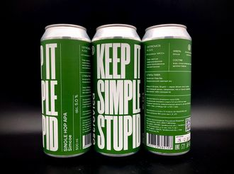 KEEP IT SIMPLE STUPID: Simcoe Pale Ale - American КИСС НА СИМСКОЕ АПА 5% IBU 30 0,5л (180) Ostrovica в банке