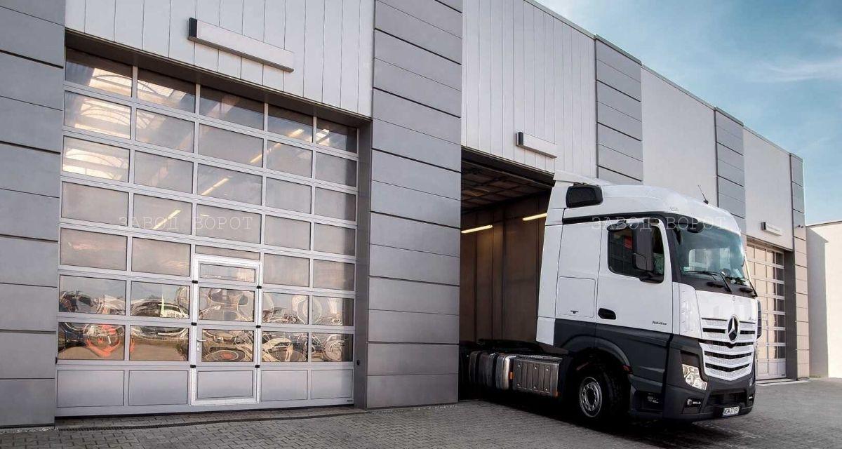 Панорамные ворота для автомойки, ангаров, складов - промышленные