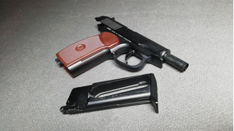 Фото пистолета SAS PM MAKAROVA BLOWBACK https://namushke.com.ua/products/sas-pm-makarov-blowback