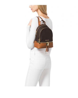Рюкзак MICHAEL KORS RHEA SMALL BACKPACK BROWN PEANUT