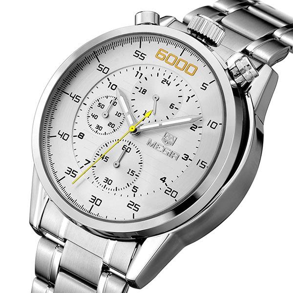 ddbba35797d7 MEGIR Мужские Роскошные Бизнес кварцевые наручные часы с ...