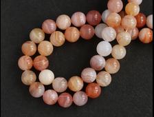 Бусина Агат абрикосовый, шар 8 мм, Ботсвана (1 шт) №16064