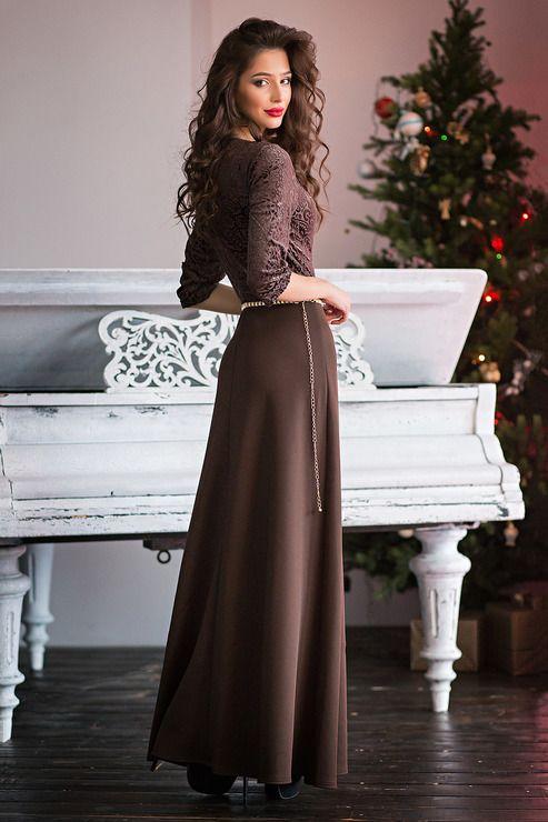 платье цвета шоколада фото