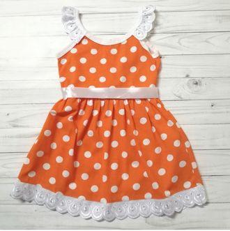 Сарафан (Артикул 580-013) цвет оранжевый