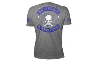 ROGUE INTERNATIONAL SHIRT Футболка Rogue Fitness. Цвет: серый