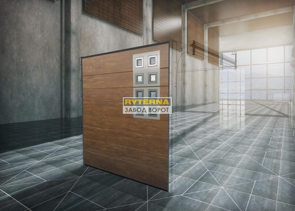 гаражные ворота из сэндвич-панелей - эксклюзивные гаражные ворота