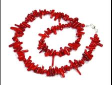 Бусы Коралл красный на тросике (длина 50 см, вес 40 г) №17248