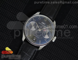 Portuguese Real PR IW500106 YLF 1:1 Best Edition on Black Leather Strap