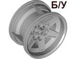 ! Б/У - Wheel 56mm D. x 34mm Technic Racing Medium, 6 Pin Holes, Light Bluish Gray (15038 / 6045310 / 6276851) - Б/У