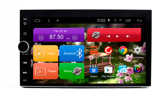 "Автомагнитола MegaZvuk PH-8705 2din универсальная на Android 6.0.1 Quad-Core (4 ядра) 7"" Full Touch"