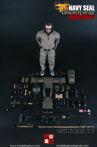 КОЛЛЕКЦИОННАЯ ФИГУРКА 1/6 US NAVY SEAL UNDERWAY BOARDING UNIT (MMS9003) - MODELING TOYS