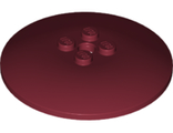 Dish 6 x 6 Inverted (Radar) - Solid Studs, Dark Red (44375b / 6024146 / 6212039)
