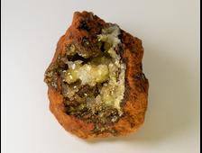 Адамин кристаллы на породе (лимонит), Мексика (50*33*27 мм, 41 г) №20782
