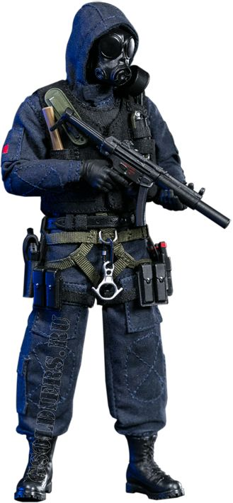 Британский спецназ САС - Коллекционная фигурка 1/12 POCKET ELITE SERIES: SAS CRW Assaulter (PES001) - DAMTOYS
