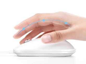 Компьютерная мышь Xiaomi Fingerprint smart fingerprint mouse белая