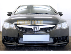 Защита радиатора Honda Civic 4D VIII (рестайлинг) 2008-2012 chrome