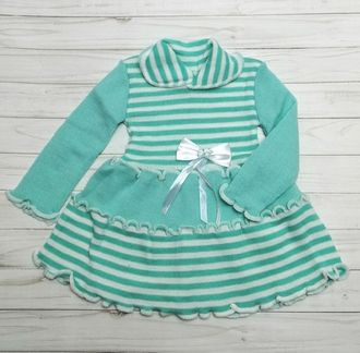 Платье вязаное (Артикул 1415) цвет мятный