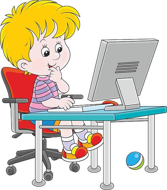 Картинки дети за компьютером для детей