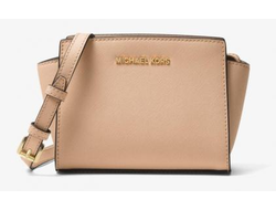 Сумка Michael Kors Selma Medium Messenger Saffiano (розовая)