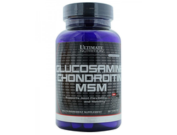 (Ultimate Nutrition) Glucosamine& Chondroitin & MSM - (90 таб)