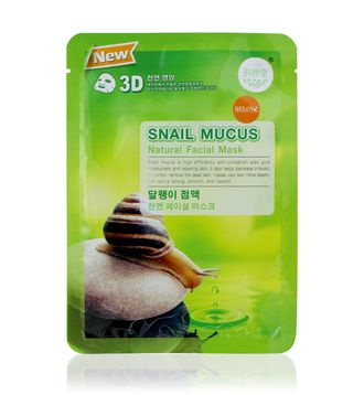 Тканевая маска для лица с муцином улитки Snail Mucus Natural Facial Mask 38 гр