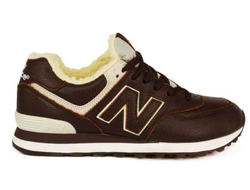 New Balance 574 Brown/кожа/мех (41-45)