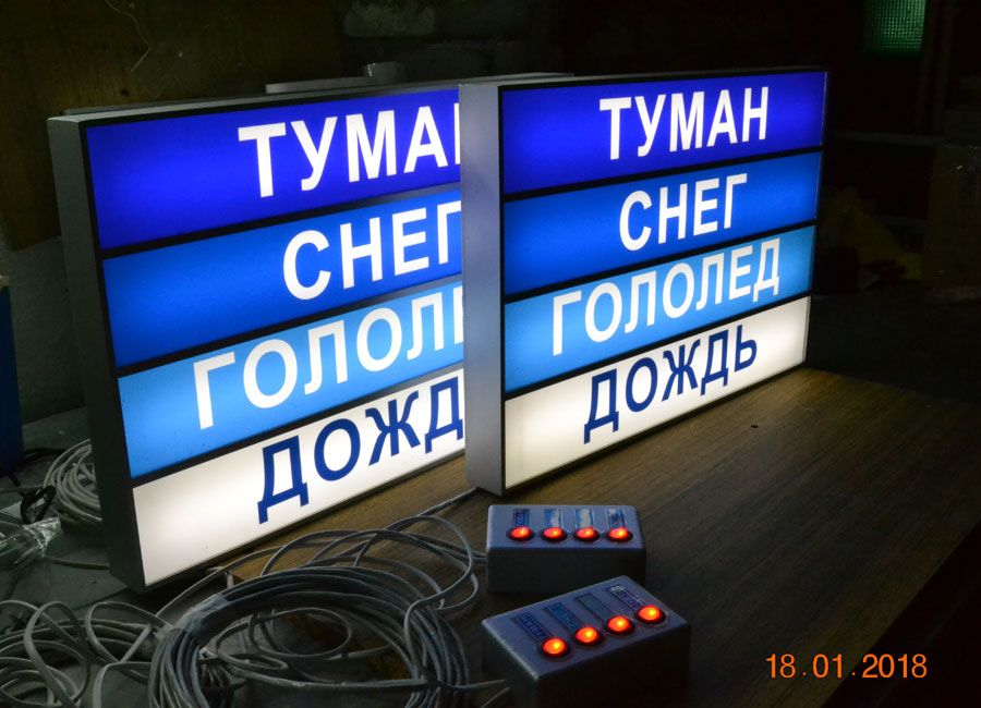 """Световое табло """"ПОСТУПИЛА КОМАНДА"""""""