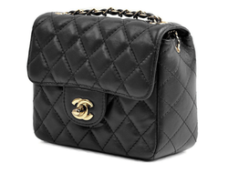 Chanel 1116 Classic Small Flap Bag Black Gold