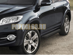 Пороги на Toyota Rav-4 Long (2006-2012) Black