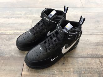 Кроссовки Nike Air Force 1 Utility Mid Black