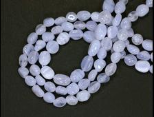 Бусина Агат голубой, галтовка 6-8 мм (1 шт) №14430