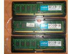 Озу Crucial DDR3 4Gb PC3-12800 CL11 Б/У