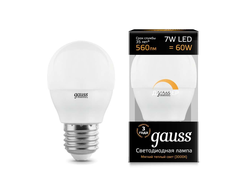 Gauss LED Globe 7w 830/840 DIM E27