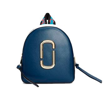 MARC JACOBS Logo Strap Pack Shot Backpack BLUE SEA MULTI