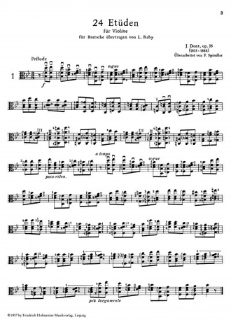 Dont 24 Studies Op. 35 for Viola