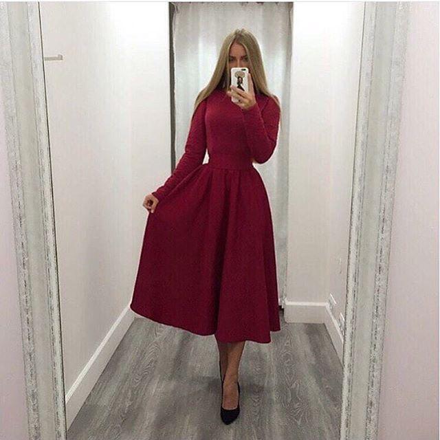 b536685b7ba Трикотажное платье миди цвет марсала купить в Украине