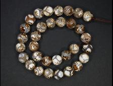 Бусина Агат, мелкая грань 14 мм