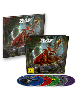 EDGUY Monuments EARBOOK 4CD+DVD +  Canvas Print