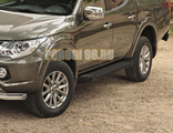 Пороги на Mitsubishi L-200 (2006-2015) Start Black
