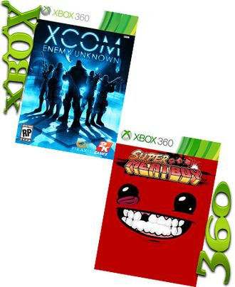 XCOM: ENEMY UNKNOWN и SUPER MEAT BOY(XBOX 360)(XBOX ONE
