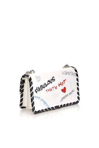 MINI LOVE BAG FABULOUS IN PELLE STAMPA GRAFFITI