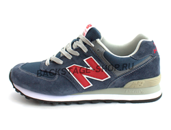 Кроссовки New Balance 574 Blue/Red сетка
