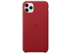 Чехол Apple кожаный  Apple iPhone 11 Pro Max red