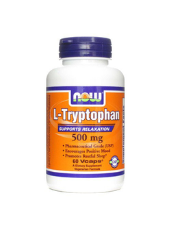 Л-триптофан Now L-Tryptophan 500mg 60 caps