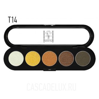 T14 Make-up Atelier Paris, Тени палитра 5 цветов
