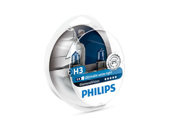 Комплект аатоламп Philips H3 12V 55W Diamond Vision (PK22s) (2шт.) 12336DVS2