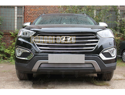Защита радиатора Hyundai Grand Santa Fe I 2013-2015 chrome